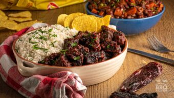 Chili colorado with beef cheeks