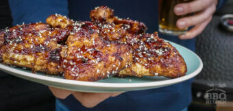 Asian chicken wings with ginger and garlic