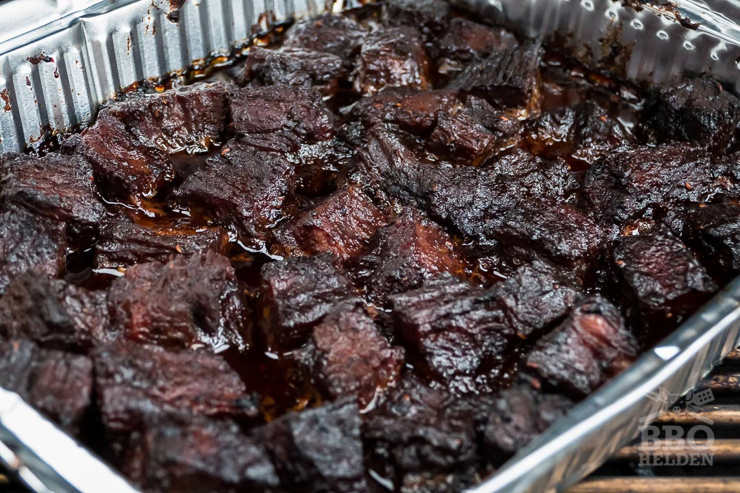 brisket burnt ends in sticky sauce