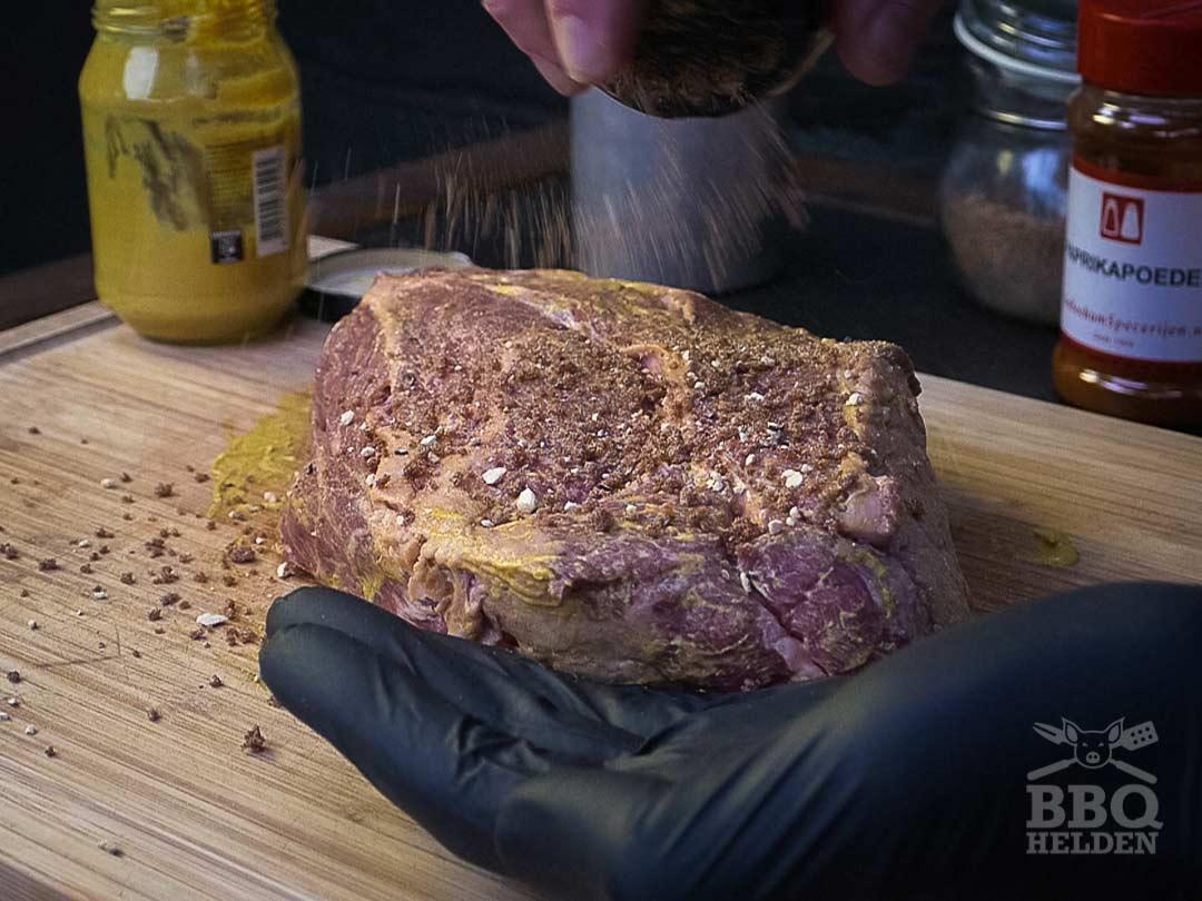 chuck roast with selfmade dryrub