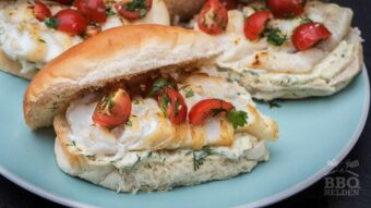 grilled cod sandwich with dill mayonnaise
