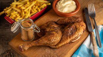 Grilled half chicken