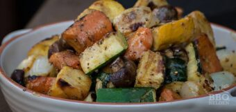 Grilled vegetables with mustard dressing