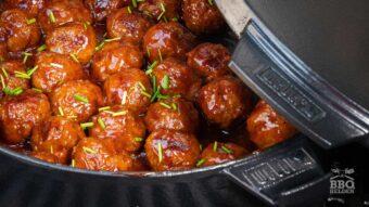 Italian meatballs in bourbon sauce