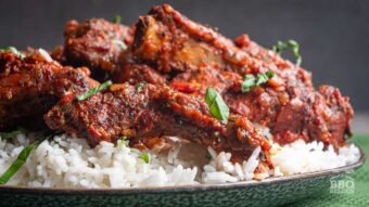 Italian grilled and stewed pork ribs