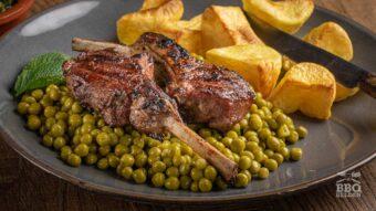 Lamb chops in mint lemon marinade