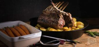 Orange and garlic rack of lamb