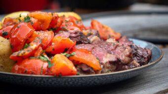 Ribeye with roasted tomatoes