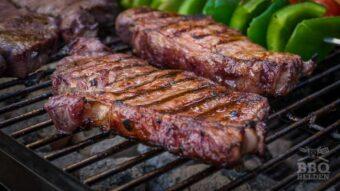 Sirloin steak in red wine marinade