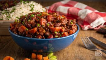 Spicy vegetarian bean chilli