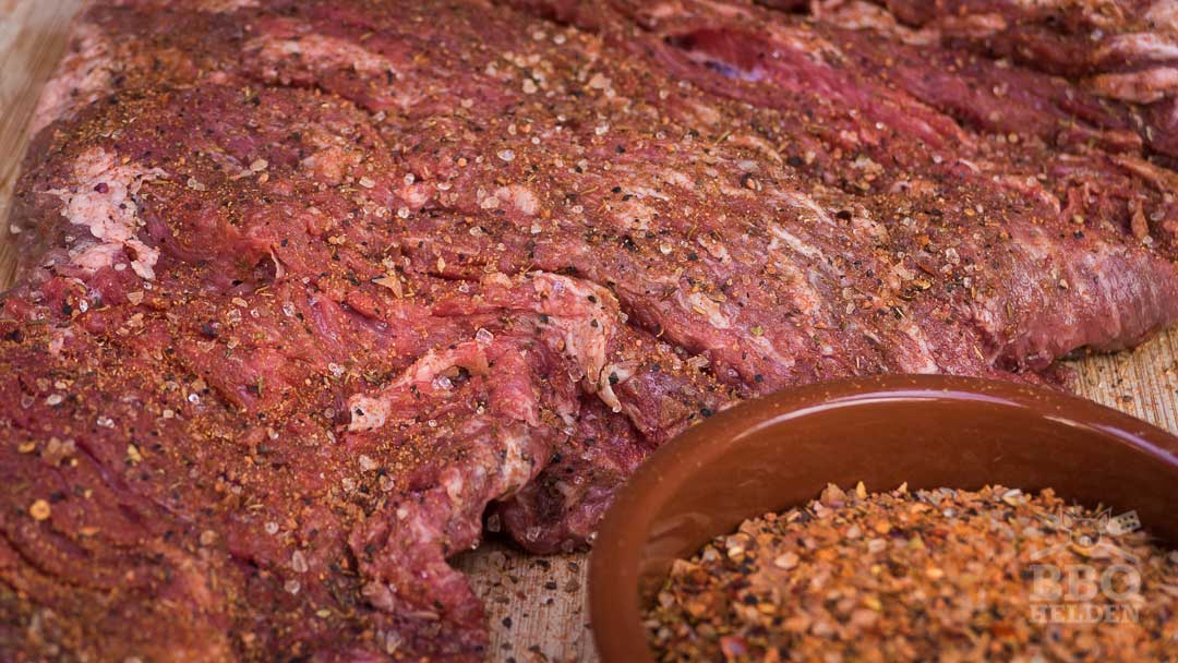 steak rub on flank steak