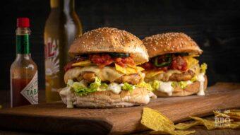 Taco burger from ground chicken